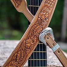 "Hudobné nástroje - Ozdobný popruh na gitaru ... ""de luxe"" - 11385909_"
