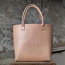 Veľké tašky - Veľká nákupná taškokabelka z pravej kože - 11385958_