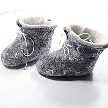 Topánočky - Vlnené plstené topánočky pre novorodenca - 11387875_