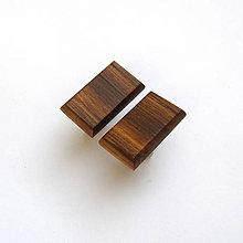 Šperky - Drevené manžetové gombíky - orechové obdĺžniky - 11387274_