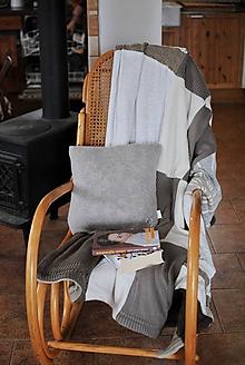 Úžitkový textil - Hnedá deka s vankúšom - 11386291_