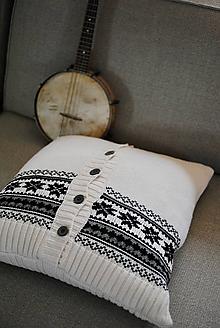 Úžitkový textil - Nórsky vankúš - 11386425_
