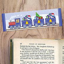 Papiernictvo - Vianočné záložky do knižky - vianočný vláčik (zvončeky) - 11387660_