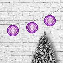 Tabuľky - Girlanda vianočné gule čučoriedkové - 11388041_