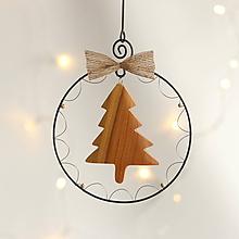 Dekorácie - vianočná dekorácia (drevený stromček) - 11388806_