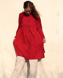 Šaty - červené/veverky - 11389192_