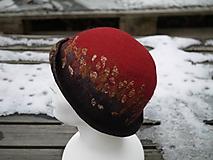Čiapky - Červený vlnený klobúčik - 11388546_