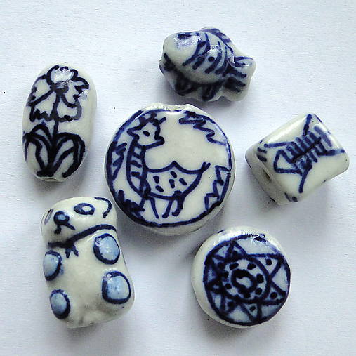 Porcelánové korálky-1ks