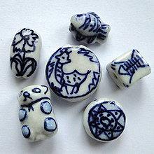 Korálky - Porcelánové korálky-1ks - 11390659_