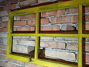 Dekorácie - okno žlté alebo modré.... - 11388415_