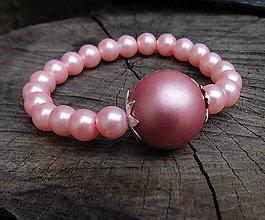 Náramky - elastický náramoček v ružovej - 11388470_