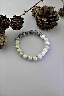 Náramky - magnezit s jaspisom náramok - 11388429_