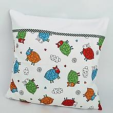 Úžitkový textil - detské obliečky ovečky na bielom - 11388441_