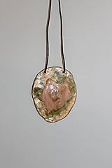 "Náhrdelníky - keramický prívesok ""goldengreen"" - 11389356_"