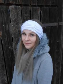Ozdoby do vlasov - Pletená čelenka - 11389623_