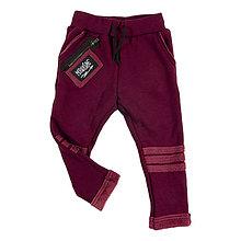 Detské oblečenie - Detské zateplené tepláky - moonrise bordó - 11390130_