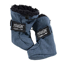 Detské oblečenie - Detské softshell topánočky - jeans - 11390864_