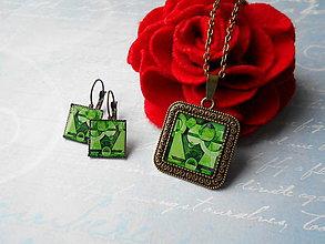 Sady šperkov - Zelená asymetria - 11389735_