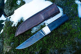 Nože - Damaškový nôž Mesačný Svit - 11390524_