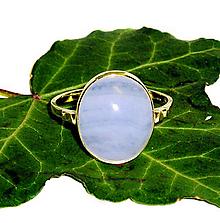 Prstene - ZLATÝ prsten CHALCEDON KRAJKA 15*12 - 11389491_