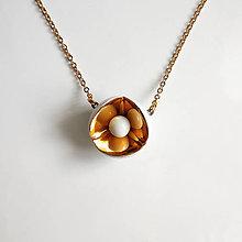 Náhrdelníky - Anamorphosis (zlatý náhrdelník) - 11389967_