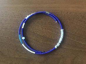 Náramky - Tenučký modrý náramok - 11388632_