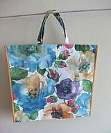 Nákupné tašky - Nákupná taška so skrytým dnom Kvety - 11389961_