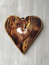 Dekorácie - Nástenné srdce -V srdci- - 11389635_