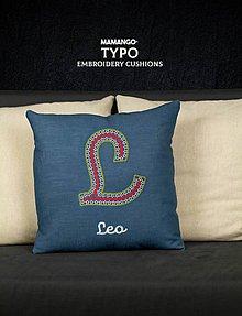 Úžitkový textil - Obliečka na vankúš s výšivkou - 11390564_