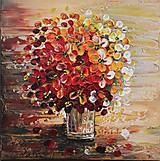 Obrazy - Kvety vo váze červené - 11388969_
