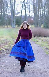 Sukne - sukňa Ema - kráľovská modrá - 11388480_