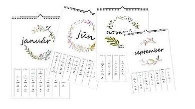 Dekorácie - autorský kalendár - 11390212_