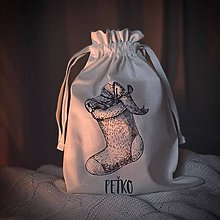 Detské tašky - Vrecko LiLu - vianočná čižmička - 11388742_