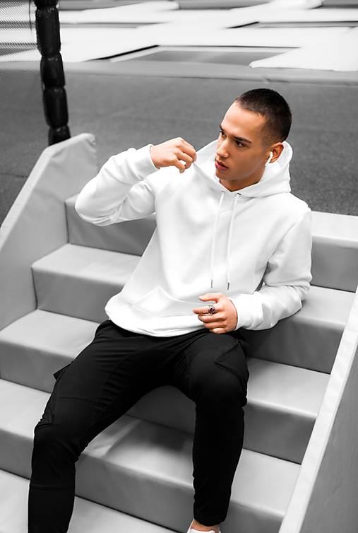 Mikina s kapucňou ROYAL UNISEX WHITE
