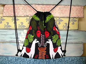 Batohy - Ruksak, batůžek, vak - Lamy a papoušci - 11389422_