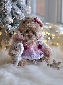 Hračky - Háčkovaný medvedík - 11389978_