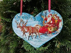 Tabuľky - santa s darčekmi - 11388284_