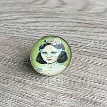 Prstene - Prsteň Dievča s maskou okrúhly - 11391125_