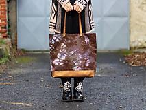 Veľké tašky - Maxi ručně barvená s bronzovou - 11391917_