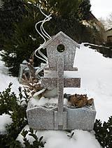 Dekorácie - Zimná dekorácia so sovičkou - 11394047_
