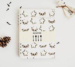 Papiernictvo - Vianočný receptár - hviezdičky II - 11392260_