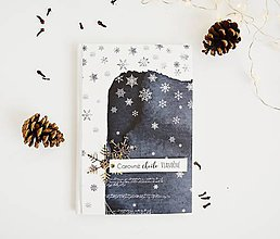Papiernictvo - Mini fotoalbum modrý - čarovné chvíle vianočné - 11392317_