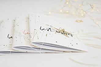Papiernictvo - Zápisníky A5 - hviezda, zvonček, anjelske krídla - 11392424_
