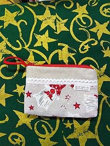 Taštičky - Vianočná taštička 3 - 11393239_