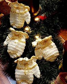 Dekorácie - Miny rukavičky-dekorácia - 11393819_