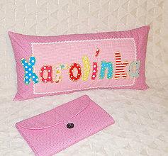 Textil - Vankúšik pre deti  - s menom ♥ - 11392777_