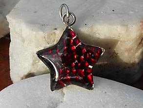 Náhrdelníky - red star-garnet-pyrop-granát - 11393644_
