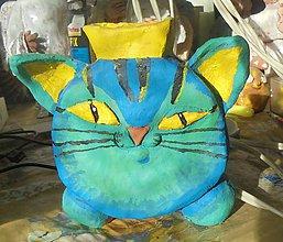 Dekorácie - Vázička - mačka, keramika - 11391545_
