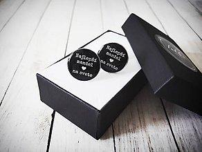 Šperky - Manžetové gombíky pre manžela - 11391961_