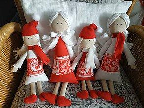 Dekorácie - Vianočný anjelik (Červená) - 11391900_